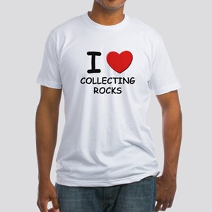 I love collecting rocks Fitted T-Shirt