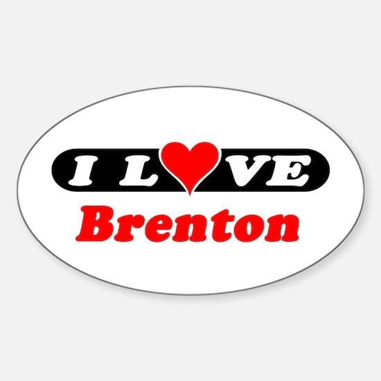 I Love Brenton Oval Decal