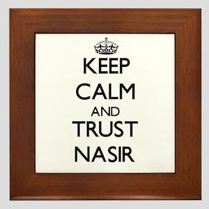 Keep Calm and TRUST Nasir Framed Tile
