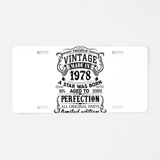 Vintage 1978 Aluminum License Plate