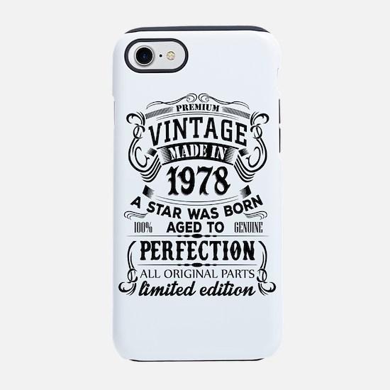 Vintage 1978 iPhone 7 Tough Case