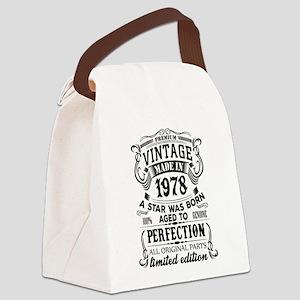 Vintage 1978 Canvas Lunch Bag