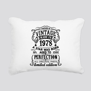Vintage 1978 Rectangular Canvas Pillow