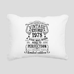 Vintage 1978 Rectangular Canvas Pillow