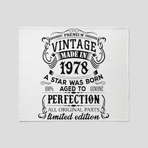 Vintage 1978 Throw Blanket