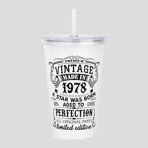 Vintage 1978 Acrylic Double-wall Tumbler