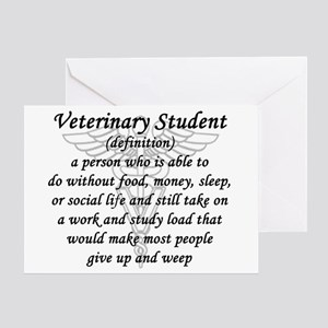 Veterinary Student Definition Greeting Cards