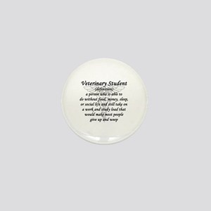 Veterinary Student Definition Mini Button