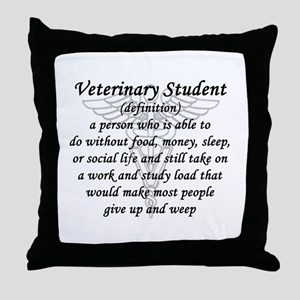 Veterinary Student Definition Throw Pillow