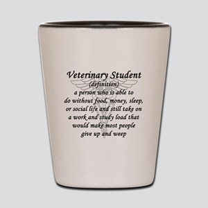 Veterinary Student Definition Shot Glass