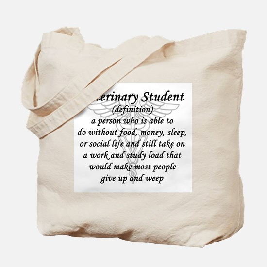 Veterinary Student Definition Tote Bag