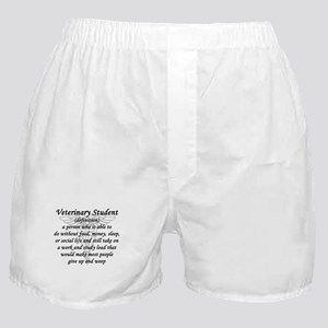 Veterinary Student Definition Boxer Shorts