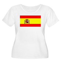 Spain Spanish Blank Flag T-Shirt