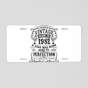 Vintage 1982 Aluminum License Plate