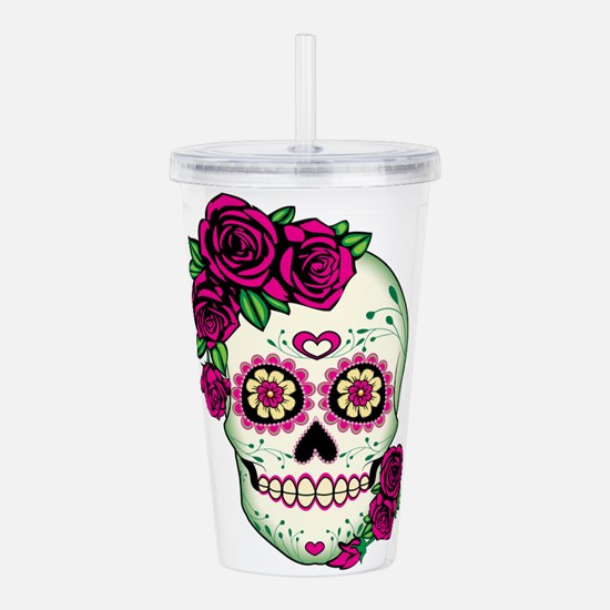 Unique Pink roses Acrylic Double-wall Tumbler