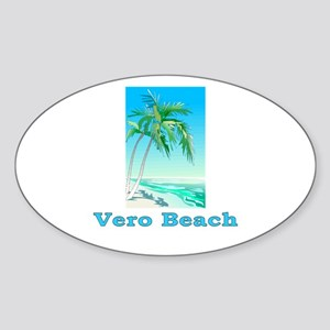 Vero Beach, Florida Oval Sticker