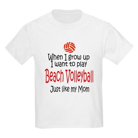 WIGU Beach Volleyball Mom Kids Light T-Shirt