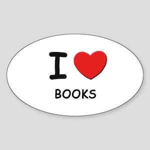 I love books Oval Sticker