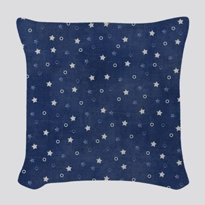 Stary Night Blue  Woven Throw Pillow