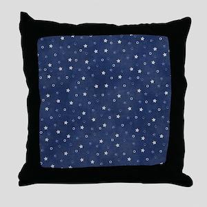 Stary Night Blue  Throw Pillow