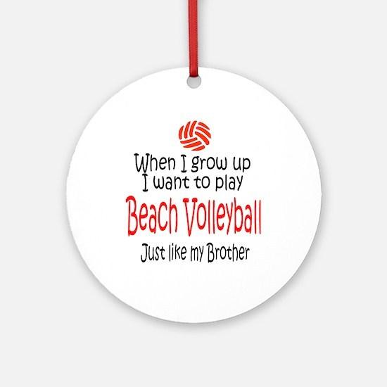 WIGU Beach Volleyball Brother Ornament (Round)