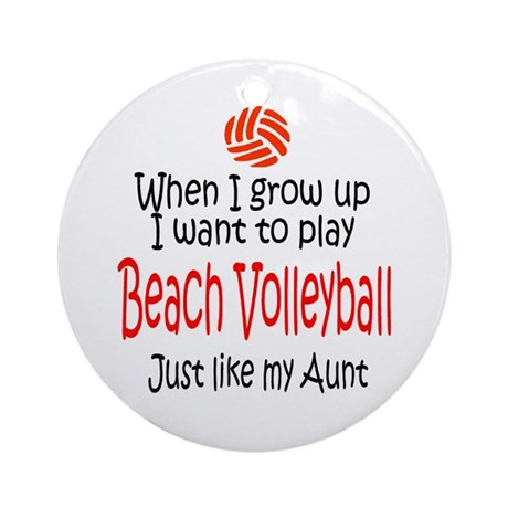WIGU Beach Volleyball Aunt Ornament (Round)