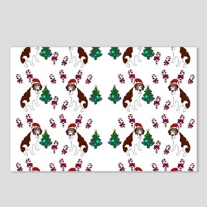 Christmas Saint Bernard dog Postcards (Package of