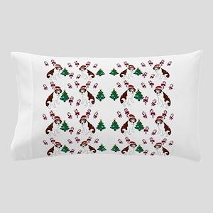 Christmas Saint Bernard dog Pillow Case