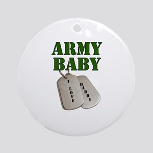 Army Baby - Daddy Ornament (Round)