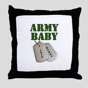Army Baby - Daddy Throw Pillow