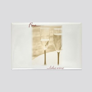 Fine Like Wine Rectangle Magnet