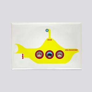 3CLM Yellow Submarine Rectangle Magnet