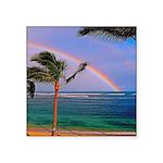 Hawaiian double rainbow Sticker