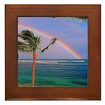 Hawaiian double rainbow Framed Tile