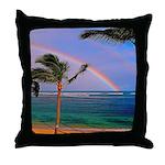 Hawaiian double rainbow Throw Pillow
