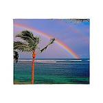 Hawaiian double rainbow Throw Blanket