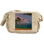 Hawaiian double rainbow Messenger Bag