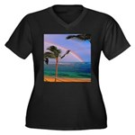 Hawaiian double rainbow Plus Size T-Shirt