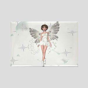 Snow Fairy Rectangle Magnet
