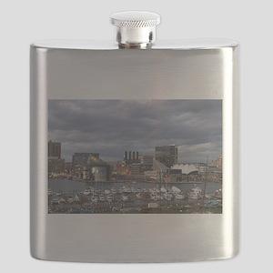 Baltimore Night Skyline Flask