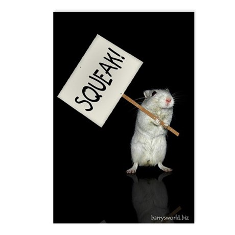 Protesting Gerbil Postcards (Package of 8)