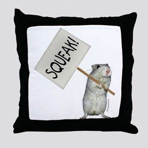 Protesting Gerbil Throw Pillow