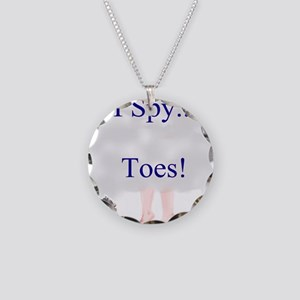 i spy toes Necklace Circle Charm