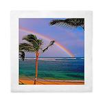 Hawaiian double rainbow Queen Duvet