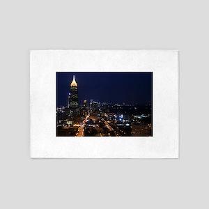 Atlanta Georgia Night 5'x7'Area Rug