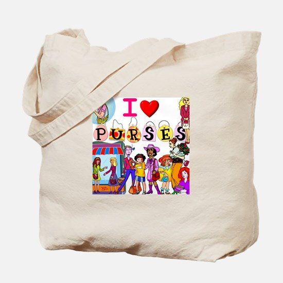 I Love Purses Tote Bag