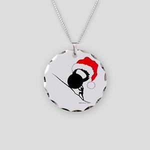 Sisyphus Kettlebell Christmas Necklace