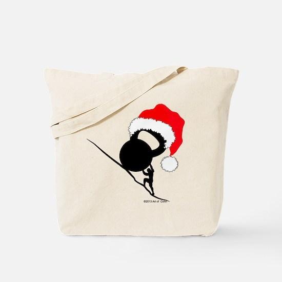 Sisyphus Kettlebell Christmas Tote Bag