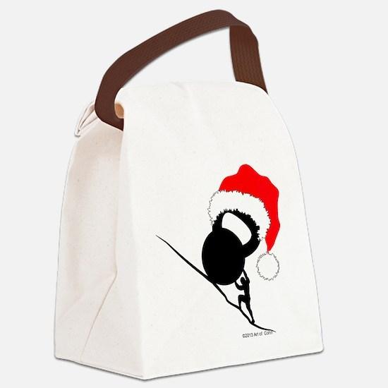 Sisyphus Kettlebell Christmas Canvas Lunch Bag