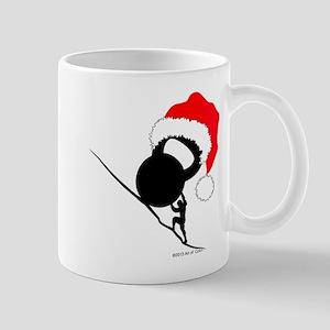 Sisyphus Kettlebell Christmas Mugs